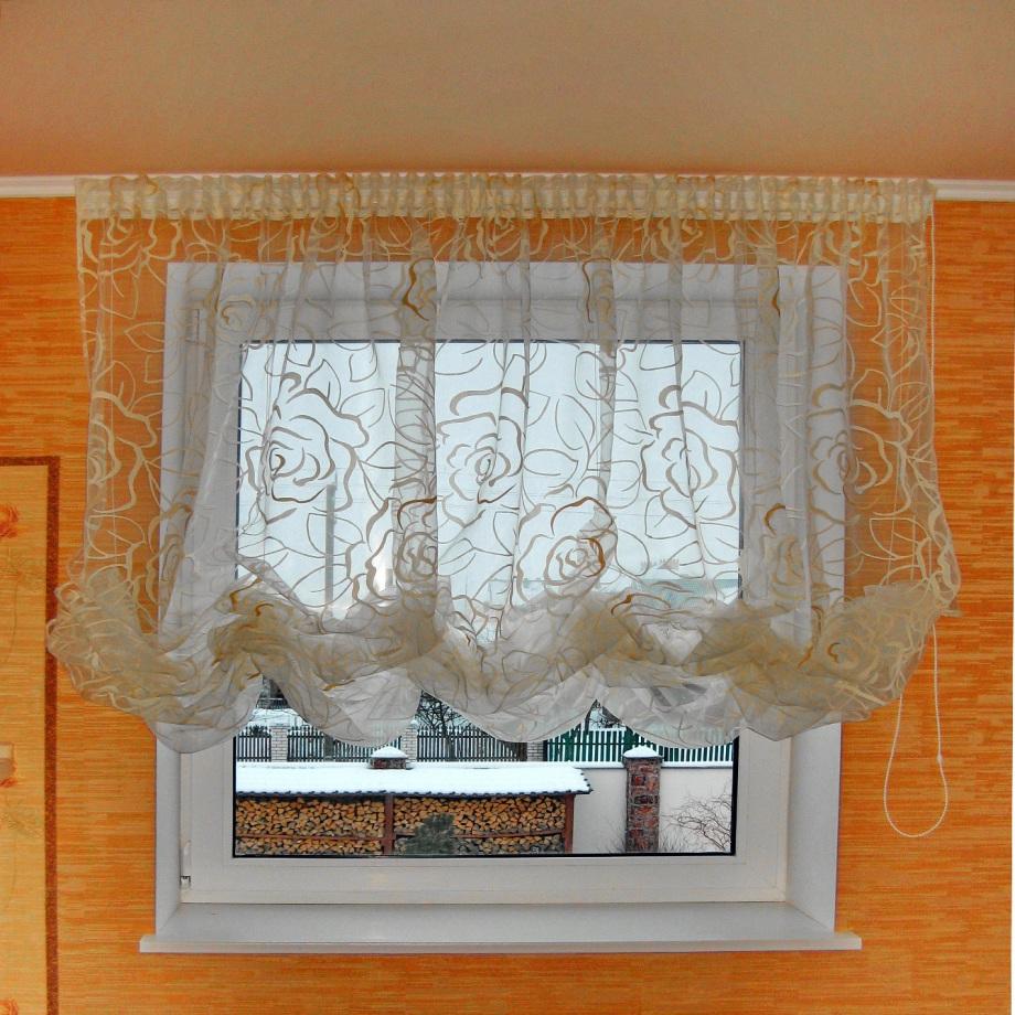Как сшить австрийскую штору на кухню своими руками